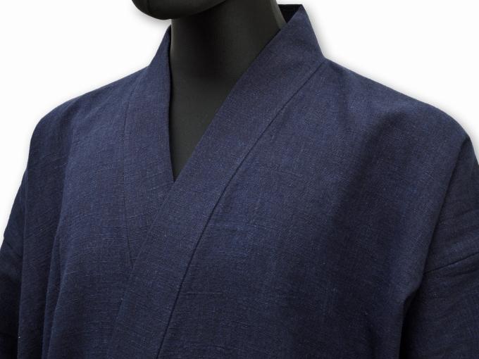 麻綿藍染作務衣