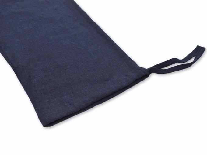 麻綿藍染作務衣 ズボン裾部分