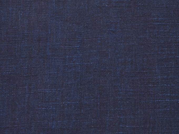 麻綿藍染作務衣 ポケット部分