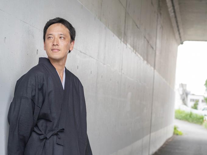 和紙しじら織作務衣 日本製 イメージ写真