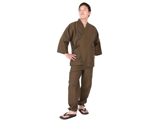 和紙しじら織作務衣 日本製