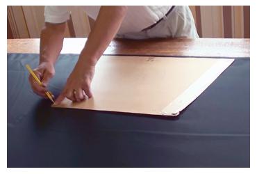 「型取り」 作務衣の製作工程