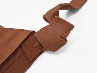 作務衣用柿渋染頭陀袋  金具なし 紐接合部分