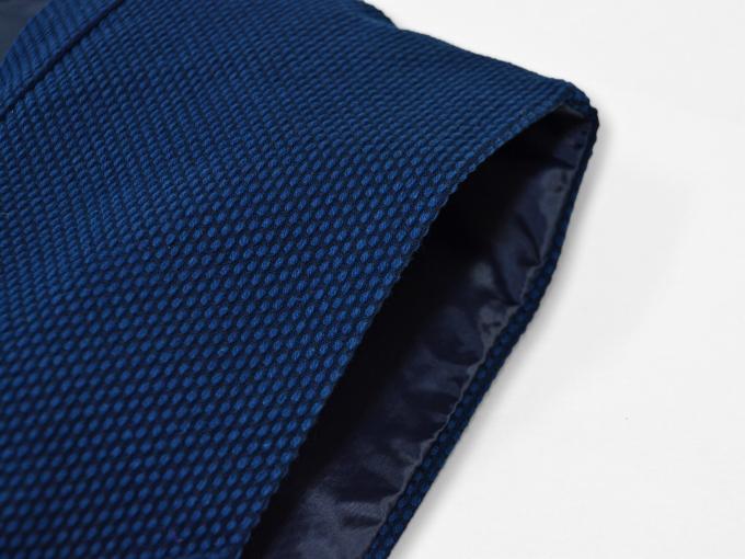 地厚刺子作務衣用羽織 濃紺(ネイビー・藍色)脇部分