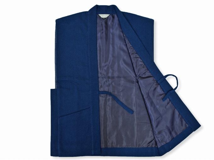地厚刺子作務衣用羽織 濃紺(ネイビー・藍色)裏地部分