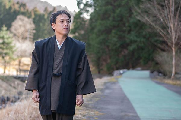 太刺子作務衣用羽織 黒(ブラック)イメージ写真