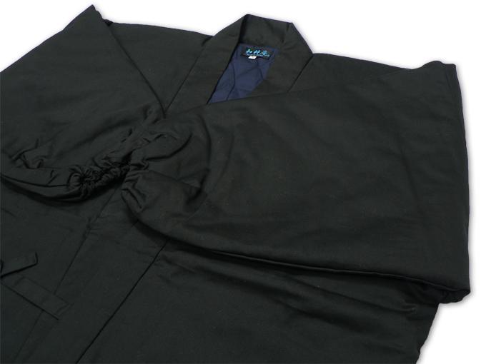 綾織キルト作務衣 黒