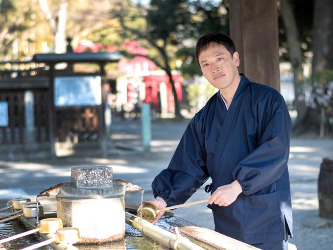 袖・裾ゴム式バーバリー織作務衣 日本製 イメージ