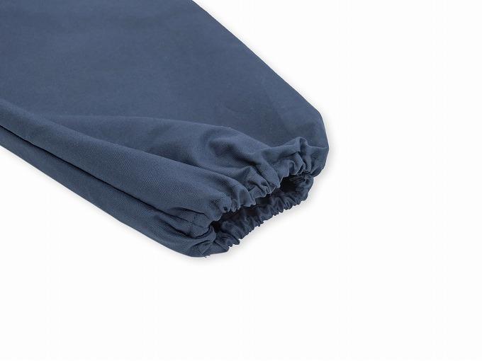 袖・裾ゴム式バーバリー織作務衣 日本製 ゴム袖部分