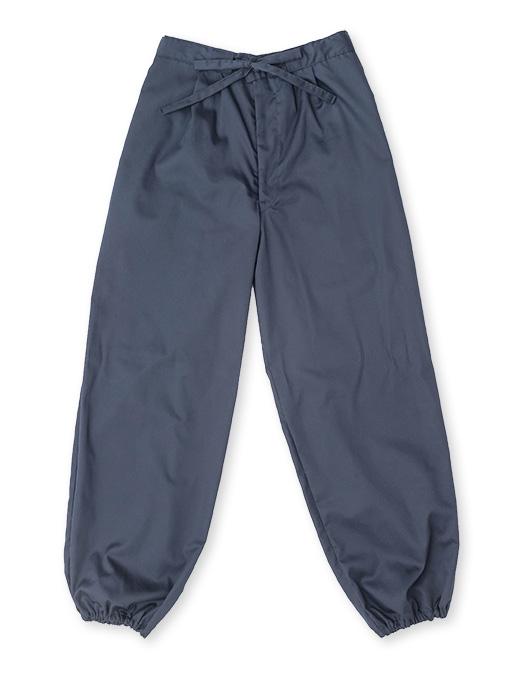 袖・裾ゴム式バーバリー織作務衣 日本製 ズボン