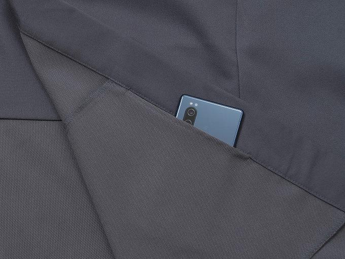 裏綿二重織ストレッチ作務衣[聖] ズボン裾紐部分