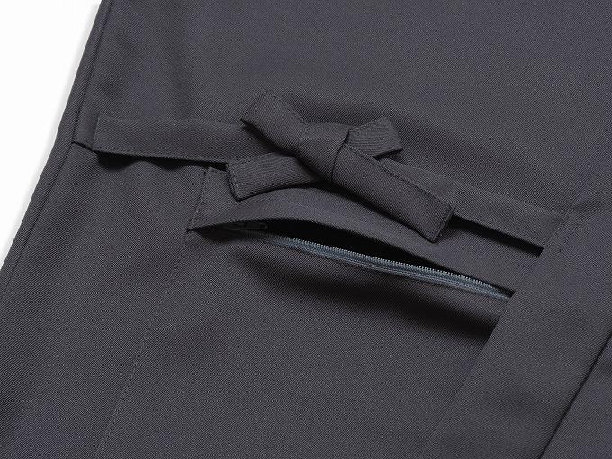 裏綿二重織ストレッチ作務衣[聖] 上着ポケット部分