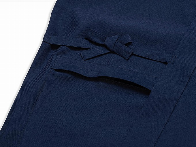 ストレッチツイル作務衣 上着ポケット部分