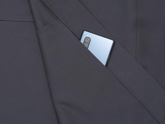 ストレッチツイル作務衣 ズボン裾紐部分