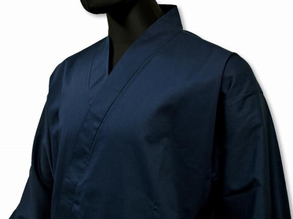 日本製綿ポリ綾織作務衣濃紺