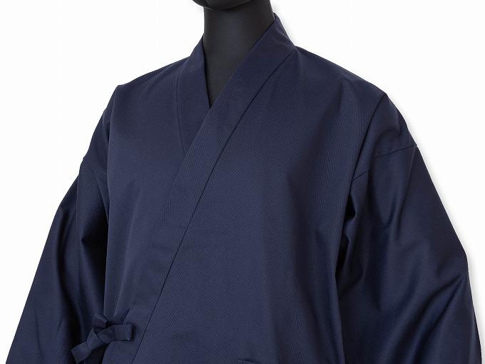綿ポリ綾織作務衣 濃紺 マネキン着用