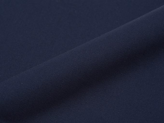 綿ポリ綾織作務衣 濃紺 生地拡大