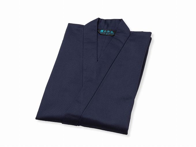 綿ポリ綾織作務衣 濃紺 畳んだ状態