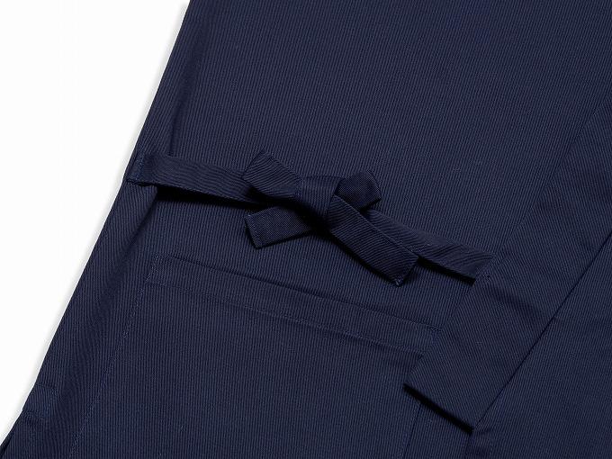 綿ポリ綾織作務衣 濃紺 濃紺 上着紐部分