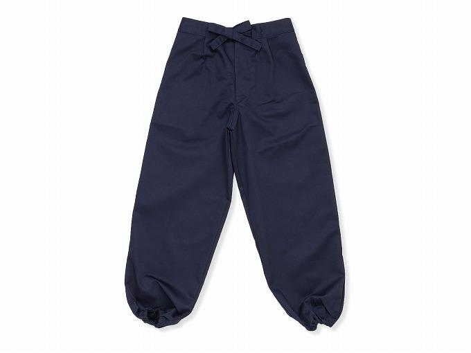 綿ポリ綾織作務衣 濃紺 ズボン
