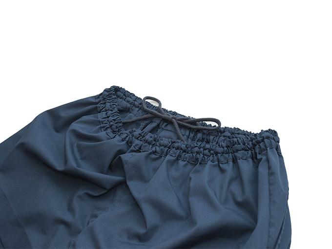 【日本製】 多機能袖裾ゴム式作務衣 【和粋庵】ズボンウエスト総ゴム+総通し紐