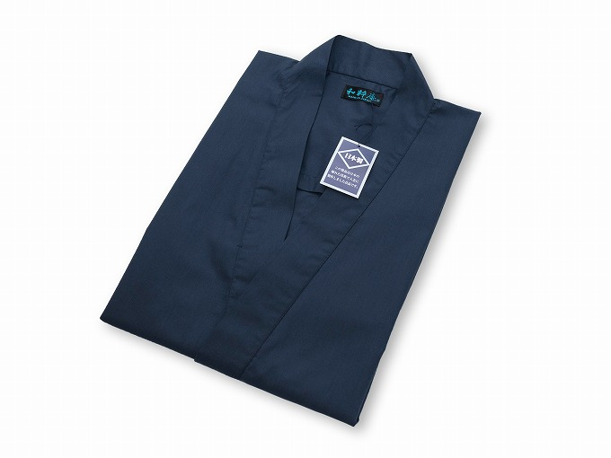 【日本製】 多機能袖裾ゴム式作務衣 【和粋庵】上着畳んでいる状態