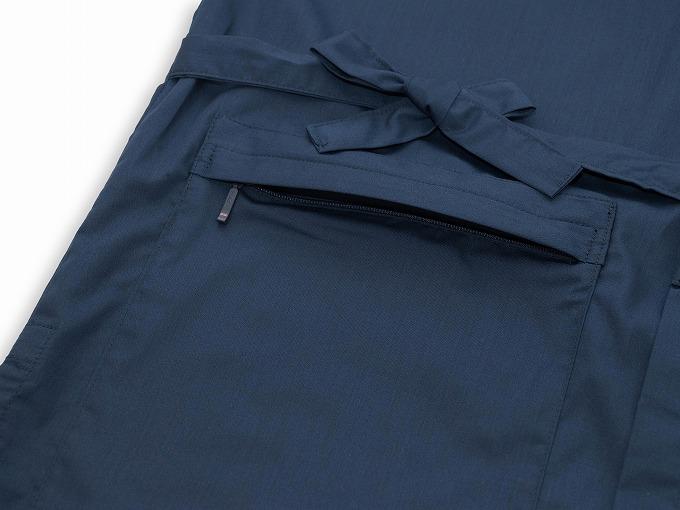 【日本製】 多機能袖裾ゴム式作務衣 【和粋庵】上着下前身頃ファスナー付ポケット