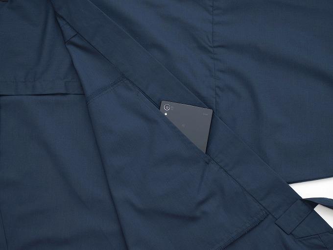 【日本製】 多機能袖裾ゴム式作務衣 【和粋庵】 スマートフォンが入る内ポケット付