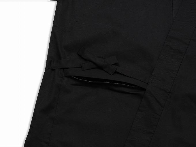 抗ウイルス・バーバリー織作務衣 上着ポケット部分