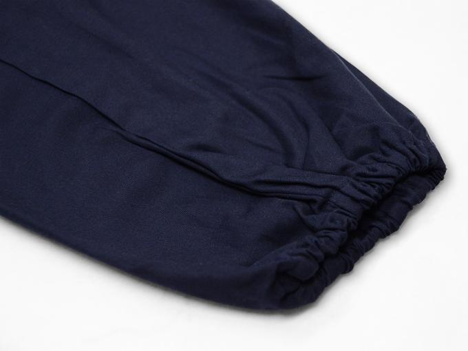 ななこ織作務衣 濃紺 上着袖部分