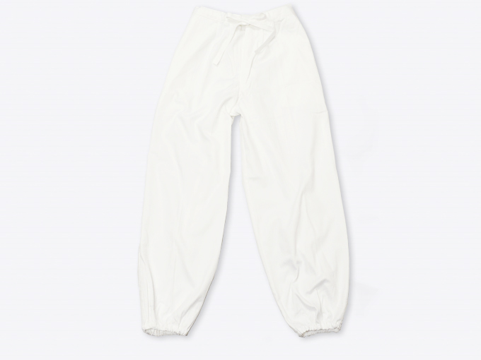 ななこ織作務衣 白 ズボン