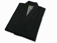日本製デニムロールアップ作務衣黒