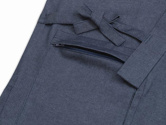 抗ウイルスTCデニム作務衣 日本製 紐部分