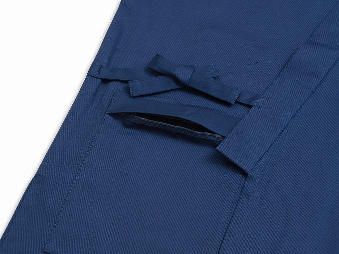 抗ウイルス綾織作務衣 日本製 紐部分