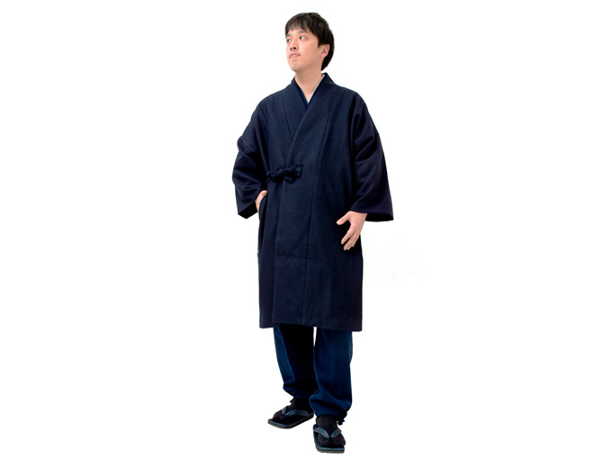 作務衣コート【濃紺】 裏地