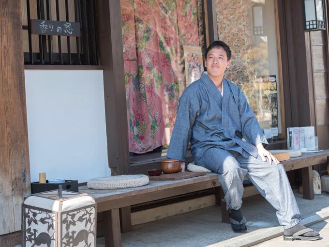カイハラデニム・シャンブレ―作務衣 日本製 イメージ
