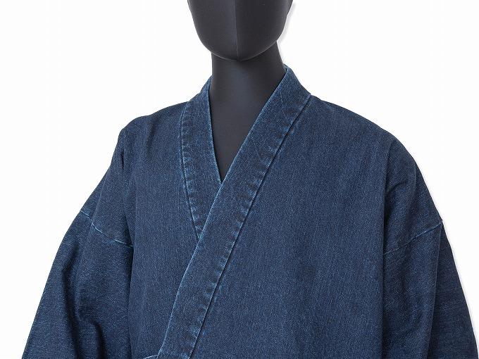 カイハラデニム・11オンス バイオウォッシュ作務衣 日本製