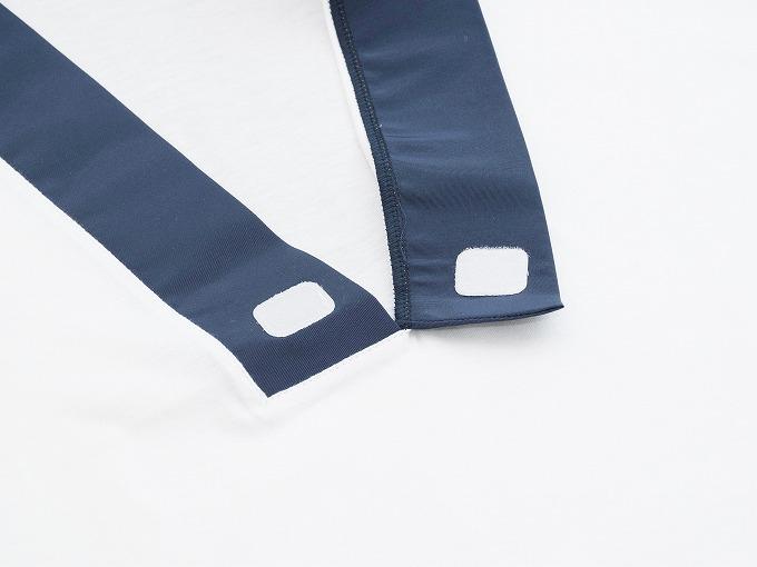 作務衣用Tシャツ半襦袢 NO.1 濃紺 衿元 マジックテープ仕様