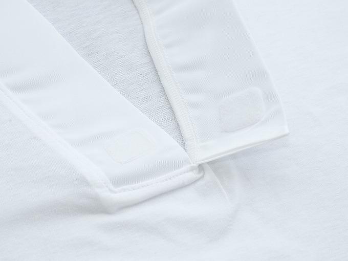作務衣用Tシャツ半襦袢 NO.2 白 衿元 マジックテープ仕様