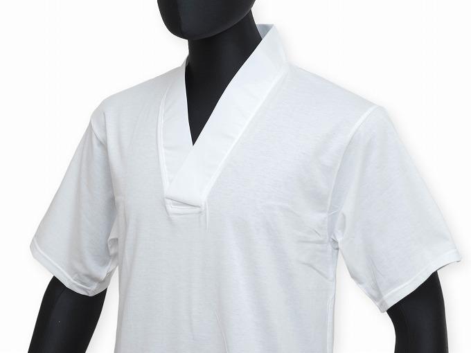 作務衣用Tシャツ半襦袢 NO.2 白 裾部分