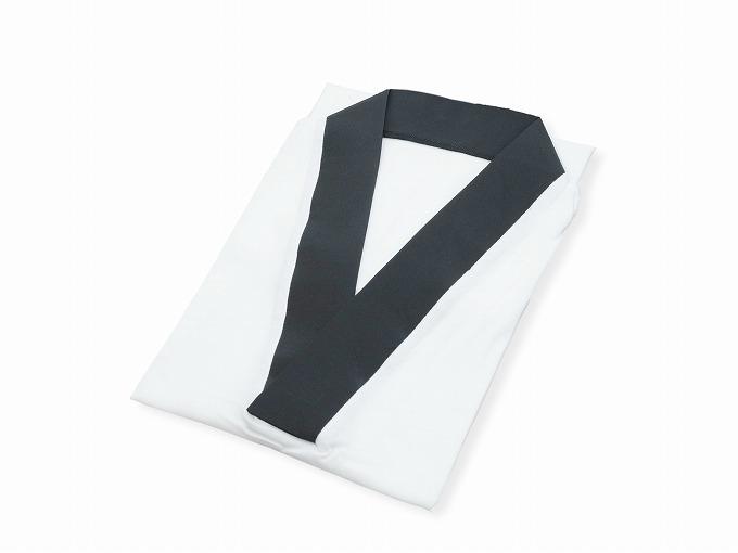 作務衣用Tシャツ半襦袢 NO.3 黒 畳んだ状態