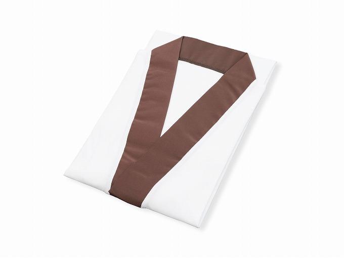 作務衣用Tシャツ半襦袢 NO.4 茶 畳んだ状態