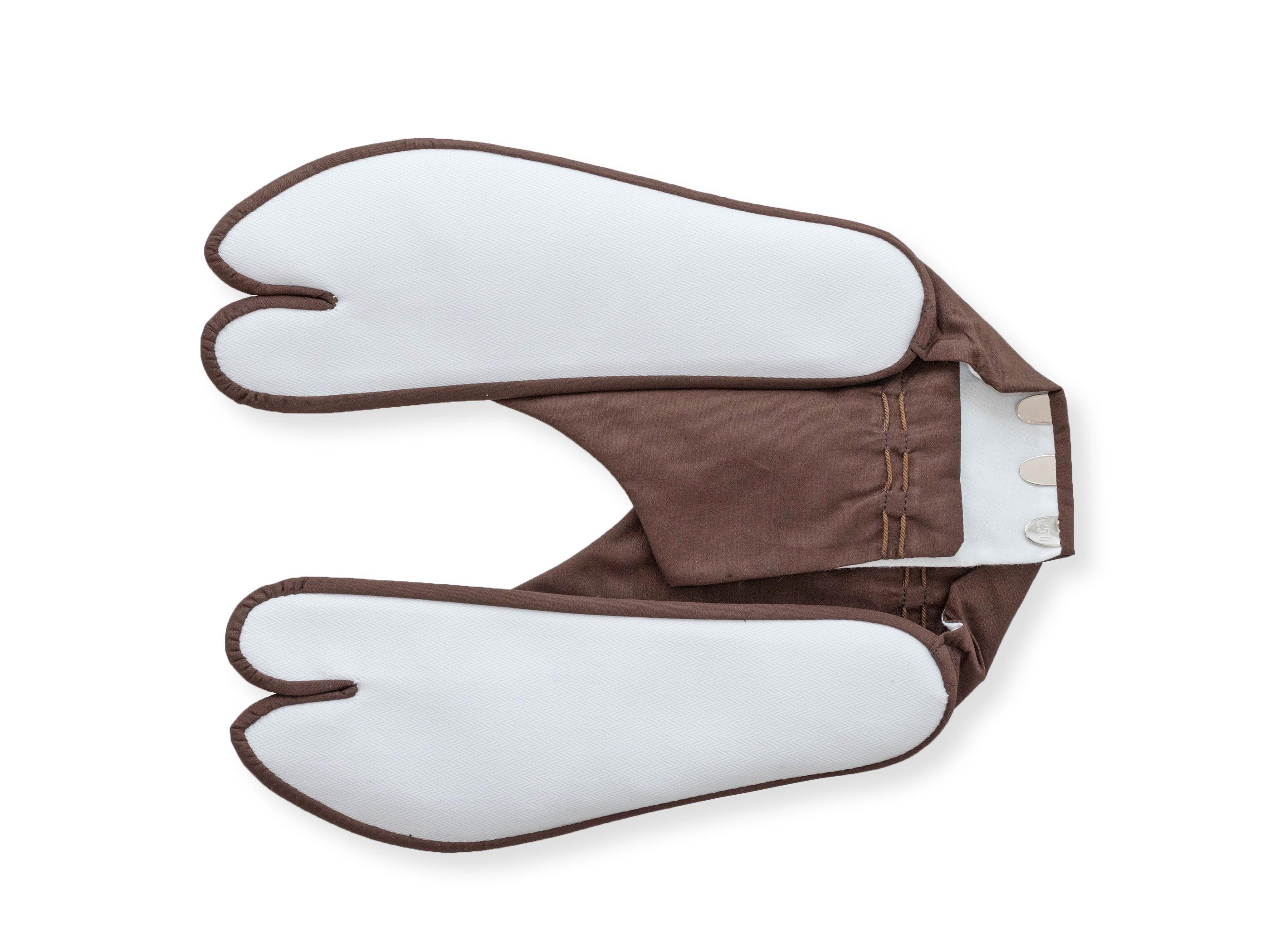 きねや足袋 4枚こはぜ 色木綿足袋 濃茶