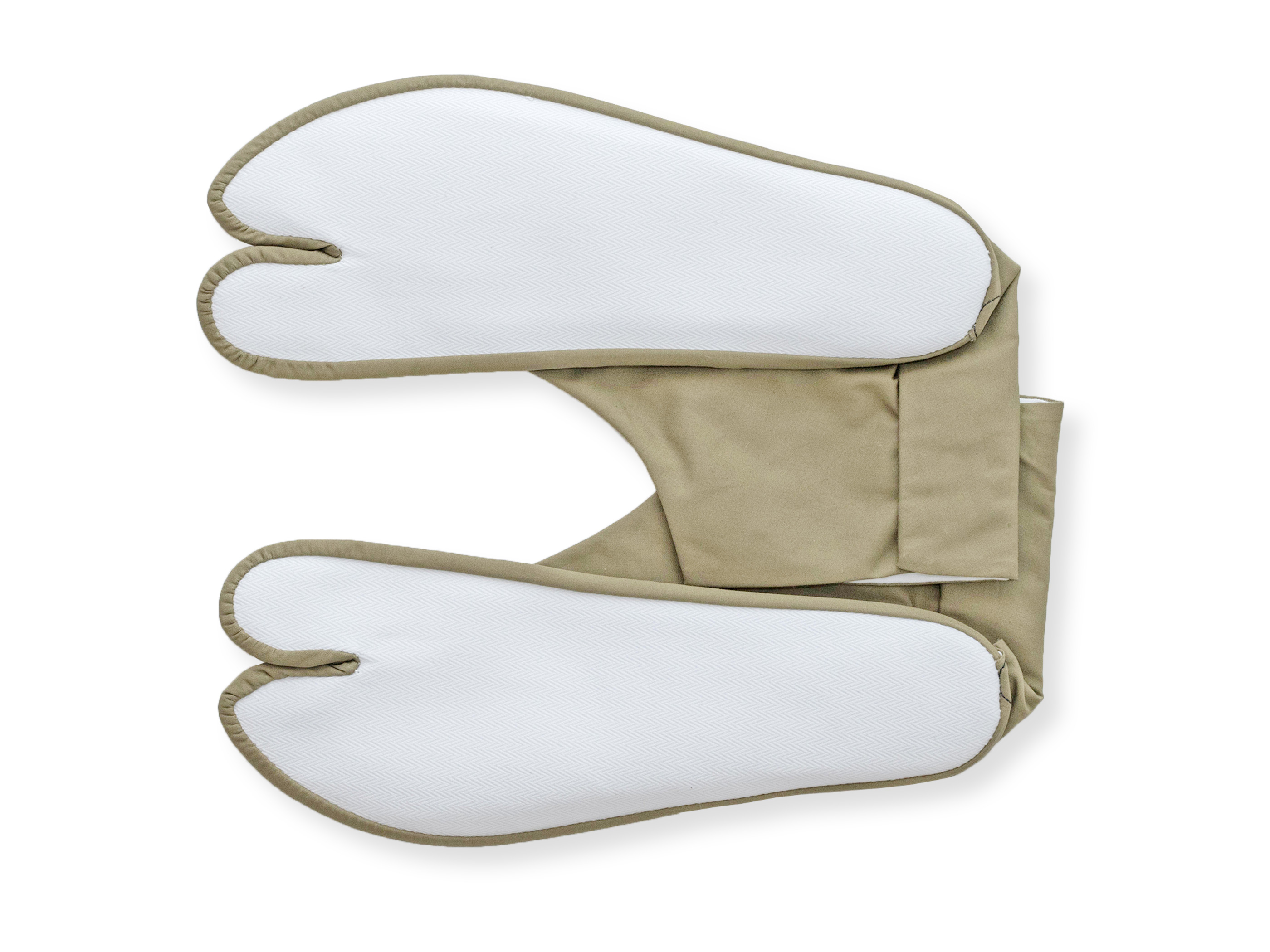 きねや足袋 4枚こはぜ 色木綿足袋 抹茶色