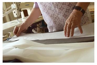 「芯入れ」 作務衣の製作工程
