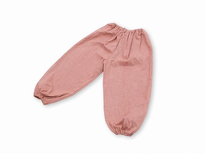 子供用絣紬作務衣 ピンク ズボン