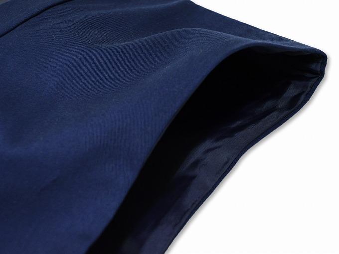 作務衣用羽織(綾織)濃紺 肩部分