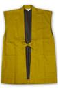 綾織作務衣羽織 4番色金茶