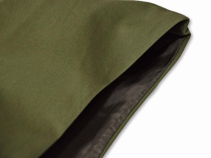作務衣用羽織(綾織)モスグリーン 緑 肩部分