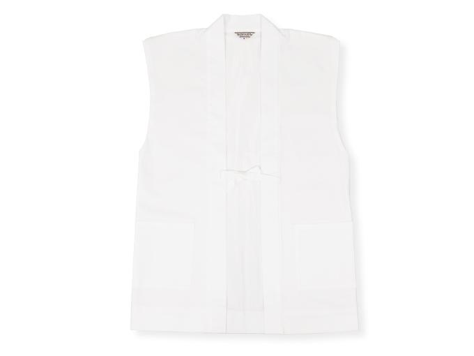 作務衣用羽織(綾織)白(ホワイト)